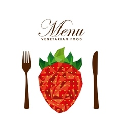 Menu vegetarian food design vector