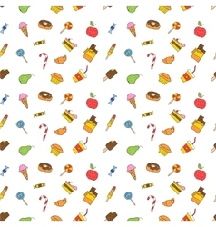 Kids hand drawing tasty food vector image
