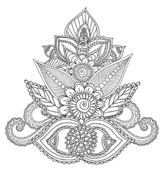 Coloring pages for adults henna mehndi doodles vector