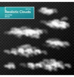 Abstract clouds elements on black background vector