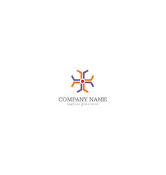 abstract geometry colored company logo vector image