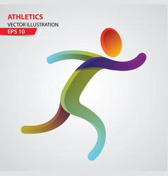 athletics color sport icon design template vector image
