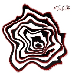 Black red and white marble style abstract vector