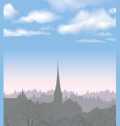City skyline buildings silhouette cityscape old vector