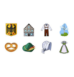 Country germany icons in set collection for design vector