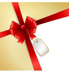 Elegant red ribbon and bow isolated on white vector