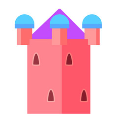 Fairy pink tower icon cartoon style vector