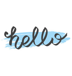 hello sign isolated on white background vector image