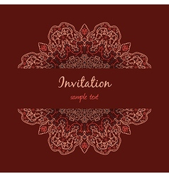 Invitation with floral ornament vector