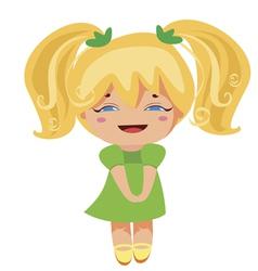 Kawaii blonde princess vector