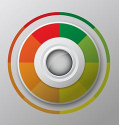 Modern circle button design vector
