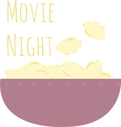 Movie night vector