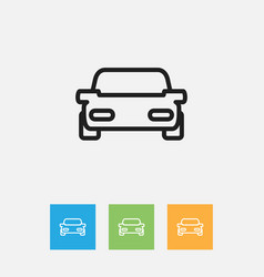Of kin symbol on car outline vector