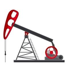 Oil rig icon cartoon style vector