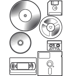 Old device floppy vector image vector image