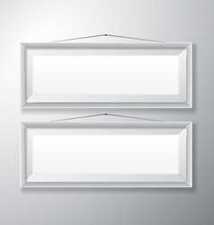 Picture frames white horizontal vector