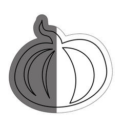 Pumpkin vegetable icon vector
