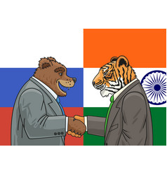 Russian indian alliance vector