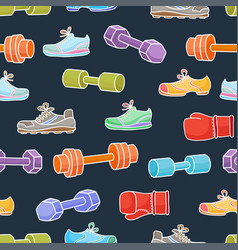 Sport equipment healthy lifestyle elements vector