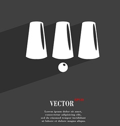 Three game thimbles with a ball games 3 cups vector