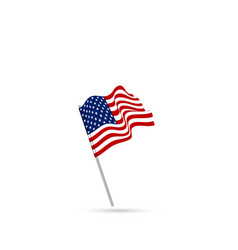 united states flag waving vector image vector image