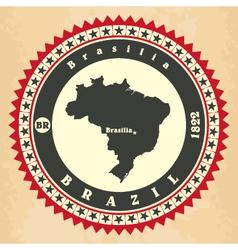 Vintage label-sticker cards of Brazil vector image vector image