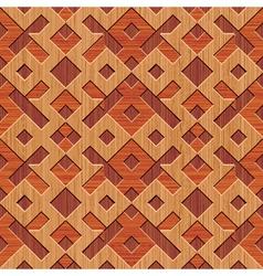 wooden rhombus vector image vector image