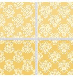 Yellow seamless ethnic pattern vector image vector image