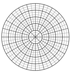 Blank polar graph paper - protractor - pie chart vector