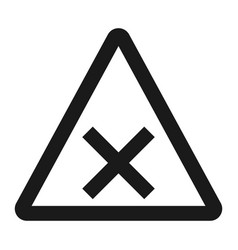 Crossroads sign line icon traffic and road sign vector