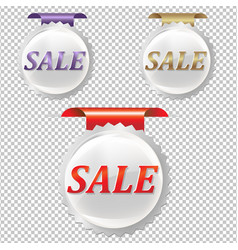 Sale stickers set vector