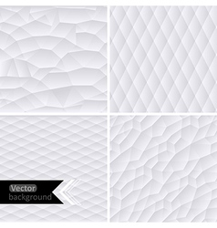 White geometric background white mo vector