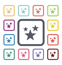 Stars flat icons set vector