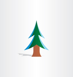 Christmas tree with snow icon vector
