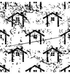 Cottage pattern grunge monochrome vector