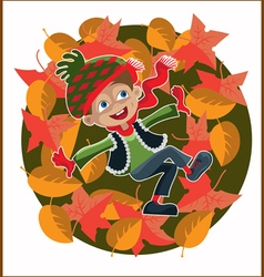 Boy foliage vector
