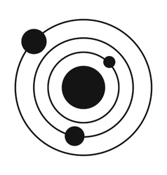Solar system black simple icon vector