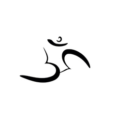 Om sign painted by hand the sacred symbol in vector