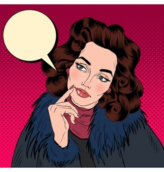 Beautiful woman in pop art comics style vector