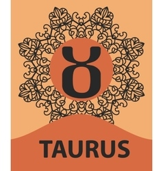 Taurus bull zodiac astrology icon for horoscope vector