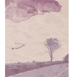 Vintage landscape vector