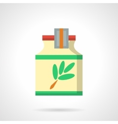 Herbal cough syrup flat color icon vector