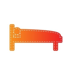 Hospital sign  orange applique vector