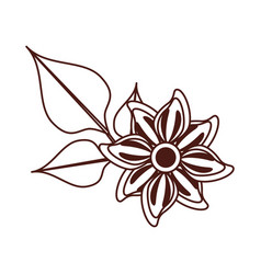 beautiful flower decorative icon vector image