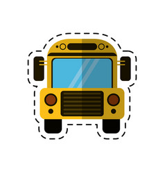 Cartoon school bus transport design vector