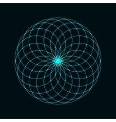 Circular mathematical ornament vector