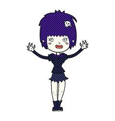 comic cartoon vampire girl vector image vector image