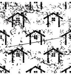 Cottage pattern grunge monochrome vector