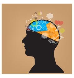 Creative silhouette head background vector