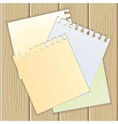 empty paper vector image
